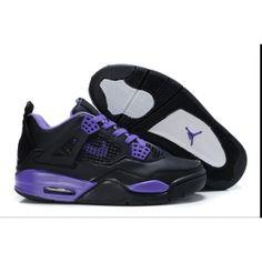 17d16557b48574 Buy Latest Air Jordan Cement 4 IV Retro Black Purple Womens Shoes Arrive  Online from Reliable Latest Air Jordan Cement 4 IV Retro Black Purple  Womens Shoes ...