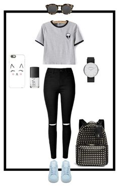 """"" by laurapetersenbiernat on Polyvore featuring adidas, Illesteva, Casetify, NARS Cosmetics, Valentino and Marc Jacobs"