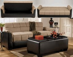 Roxanne Mocha Flip Flop Sofa By Signature Design Ashley