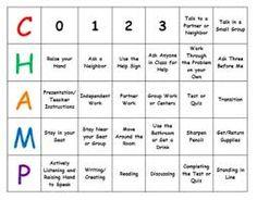 champs behavior - Google Search Champs Behavior Management, Behavior Management System, Classroom Behavior Management, Science Classroom, School Classroom, Classroom Ideas, School Behavior Chart, Center Chart, Teacher Tools