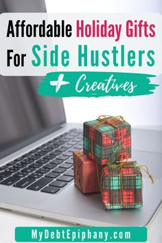 gifts for side hustlers mydebtepiphany.com Holiday Gift Guide, Holiday Gifts, Small Business Entrepreneurship, Budget Holidays, Power Bars, Earn More Money, Financial Goals, Epiphany, Money Management