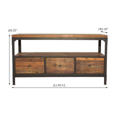 Shop Crawford & Burke Crawford & Burke 60239 Brixton McQueen Reclaimed Wood 3-Drawer TV Stand at The Mine. Browse our tv stands, all with free shipping and best price guaranteed.