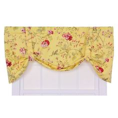 Coventry Yellow Medium Scale Floral Tie-Up Valance