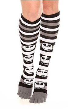 2b07041477a The Nightmare Before Christmas Jack Faces Knee-High Toe Socks  9.50 (except  I can