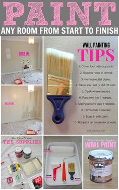 Hey ya'll! Today we're talking about another one of your FAQS: How to paint a room.Painting a room seems really easy to me now, but I remember how daunting it can be if you've never done it before. L