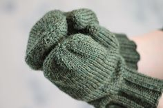 Doug Fir Mittens Balls to the Walls Knits, A collection of free one- and two- skein knitting patterns Easy Knitting Patterns, Free Knitting, Green Mittens, Coraline Jones, Blue Slippers, Yarn Needle, Mitten Gloves, Fingerless Gloves, Crochet Projects