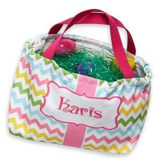 Swoon! Love this Multi Chevron Easter Basket I discovered at lollywollydoodle.com and for only $29! Click the image above to get a $5 off coupon code for your next order!