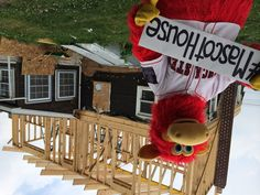 Cylo from the Lancaster Barnstormers received a spa treatment while the roof was raised on our own barn! Orlando Vacation, Spa Treatments, Lancaster, Barn, Country Barns, Warehouse, Sheds