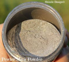 Silver Metallic Mica Powder ~ Add it right into your wax!! It's a great addition to your chalk and clay painted finish http://shizzle-design.com/store