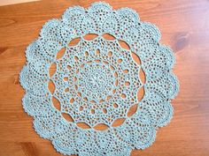"""Mantilla Doily - GAUGE: Rnds 1-8 = 4"""" across. CHECK YOUR GAUGE. Use any size hook to obtain the gauge."""