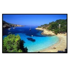 Excelvan Outdoor Portable Movie Screen 120 Inch 16:9 Home Cinema Projector Screen, PVC Fabric, Matte White