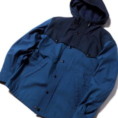 RRL - INDIGO WATERPROOF JACKET