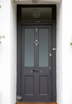 victorian front doors black - Google Search