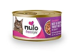 Nulo Grain Free Canned Wet Cat Food Beef  Rainbow Trout 3 oz Case of 24 -- You can find out more details at the link of the image.