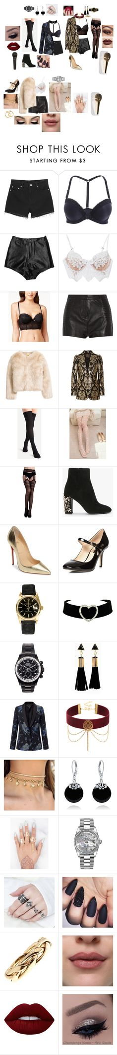 """Bst stl"" by stephrodrigues-1 on Polyvore featuring Monki, For Love & Lemons, Maidenform, Pierre Balmain, Roberto Cavalli, Christian Louboutin, Dorothy Perkins, Rolex, Mad Collections e Miss Selfridge"