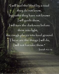 a wonderful promise ~ ISAIAH 42:16
