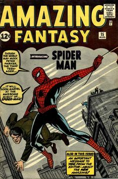 Spider-Man, despite the ever-youthful appearance of Peter Parker, is celebrating 50 years of comics this month! To celebrate, Blastr has a collection of 50 classic Spidey covers, including Amazing Fantasy #15 (August 1962) by Jack Kirby and Steve Ditko.