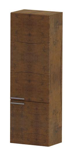 Tiger Dice hoge kast 45 cm 2 deuren antiek hout