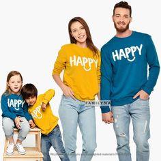 Graphic Family Sweatshirts, Matching Family Outfit, Matching Family Set, Matching Outfit, Family Happy Sweatshirts, Matching Happy Outfit Matching Family Outfits, Matching Couples, Family Set, Family Christmas Outfits, Couple Pajamas, Matching Pajamas, Graphic Sweatshirt, First Love, Sweatshirts