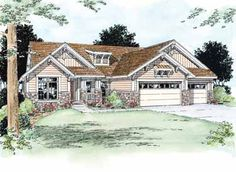 Convenience with Indulgence (HWBDO10892) | Bungalow House Plan from BuilderHousePlans.com