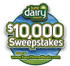 Earn some extra #cash for the summer with the #JuneDairyMonth $10,000 #Sweepstakes! Enter today!