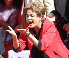 A presidente Dilma Rousseff em atoorganizado pela CUT, no Vale do Anhangabaú, em São Paulo. Foto: Tiago Queiroz/Estadão
