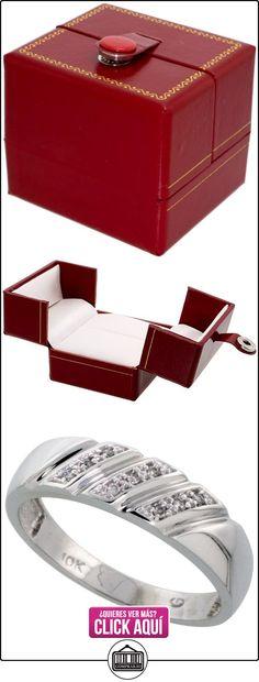Revoni - Juego de alianzas de oro blanco  ✿ Joyas para hombres especiales - lujo ✿ ▬► Ver oferta: http://comprar.io/goto/B005M2TBQU