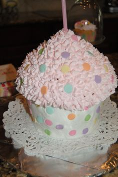 Large cupcake I made for Madison's 1st Birthday