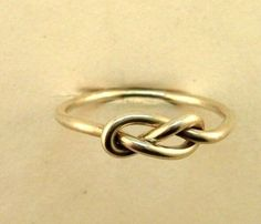 infinity ring $10  Love this... perfect as an engagement ring... or even a wedding ring. So simple!