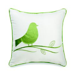 Sweet little chubby bird pillow to toss on the bed. Bed, Bath & Beyond
