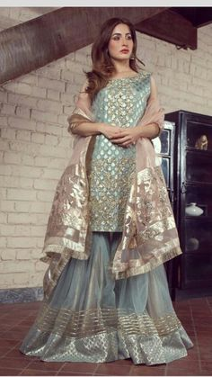 Stylish Clothes Pakistani Outfits delivers online tools that help you to stay in control of your personal information and protect your online privacy. Pakistani Fancy Dresses, Pakistani Fashion Party Wear, Pakistani Wedding Outfits, Pakistani Bridal Dresses, Pakistani Wedding Dresses, Pakistani Dress Design, Bridal Outfits, Indian Dresses, Pakistani Gharara