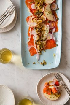 Smoked Salmon Carpaccio | This would be great at brunch or as a dinner appetizer!