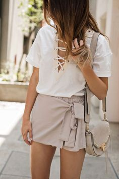 #summer #fashion / lace-up
