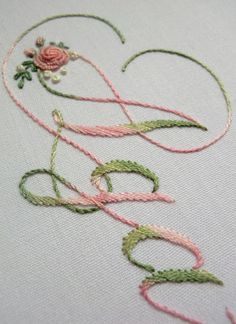 Elizabeth hand embroidery: Lost in Coloris DMC