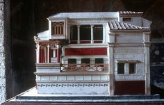 POMPEII, MODEL OF A ROMAN HOUSEPompeii, Campania (Italy). model of a Roman house, House of the Tragic Poet.  Model of a Roman house.