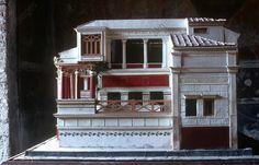 model of a Roman house, House of the Tragic Poet. Model of a Roman house. Ancient Pompeii, Pompeii And Herculaneum, Roman Architecture, Historical Architecture, Architecture Romaine, Rome City, Roman History, Roman Art, Mockup