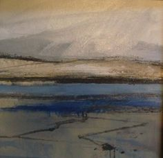 Luskentyre Beach  Harris 39x39 Oil on Canvas Board Norma Stephenson