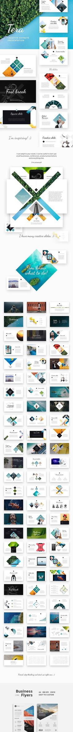 Tera - Creative Keynote Template. Presentation Templates