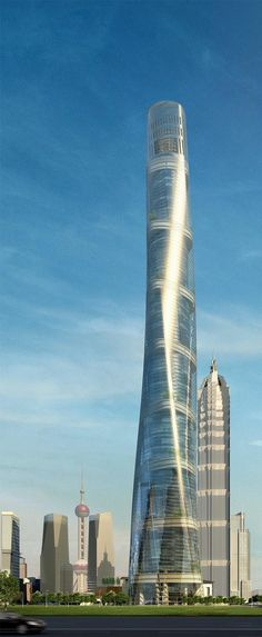 Shanghai Tower, China by Gensler Architecture :: 128 floors, height 632m