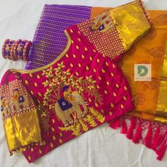 Untitled Untitled Best Picture For traditional blouse d Wedding Saree Blouse Designs, Pattu Saree Blouse Designs, Fancy Blouse Designs, Blouse Neck Designs, Traditional Blouse Designs, Traditional Dresses, Maggam Work Designs, Stylish Blouse Design, Designer Blouse Patterns