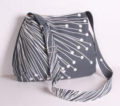 Everyday purse Messenger bag Shoulder bag GrayWhite by sineminugur, $32.00