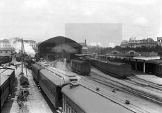 """ESTACIÓN DE ATOCHA"": Madrid,1928.-Vista general de la estación de Atocha.EFE/esl"