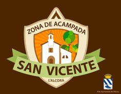 Logotipo y elementos de promoción para la zona de acampada San Vicente de Alcora (Castellón)