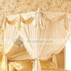 king canopy bed drapes | poster+bed+canopy+curtains 4 Poster Bed Canopy, Canopy Bed Drapes, 4 Poster Beds, Canopies, Valance Curtains, King, Decorating, Home Decor, Decor