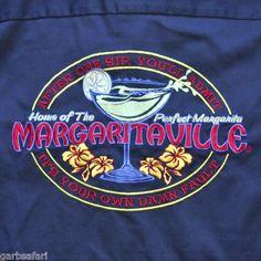 Jimmy Buffett Margaritaville Medium Work Shirt One Sip Admit Your Own Damn Fault