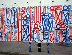 Been seeing a lot of this wall lately by Retna...Bowery and Houston.