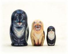 kitty-cat nesting dolls