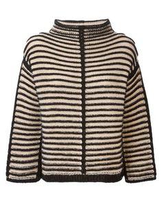 Antonio Marras | Black Contrasting Striped Sweater | Lyst