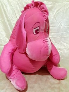 Large 27 Ins Pink Eeyore Plush With Sad Eyes