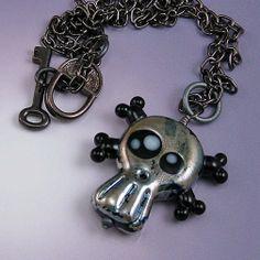 super shiny skully glamarama version by LORiOLA on Etsy, $45.00